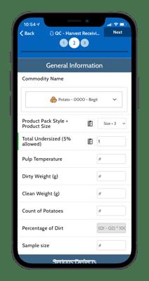 QA Potato Inspection