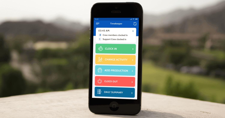 Timekeeping mobile app